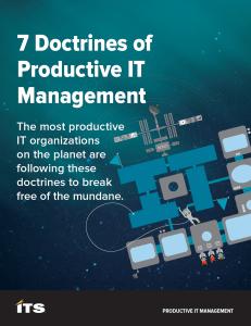 White Paper: Productive IT Management Manifesto
