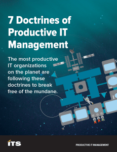 White Paper: Productive IT Management Manifesto