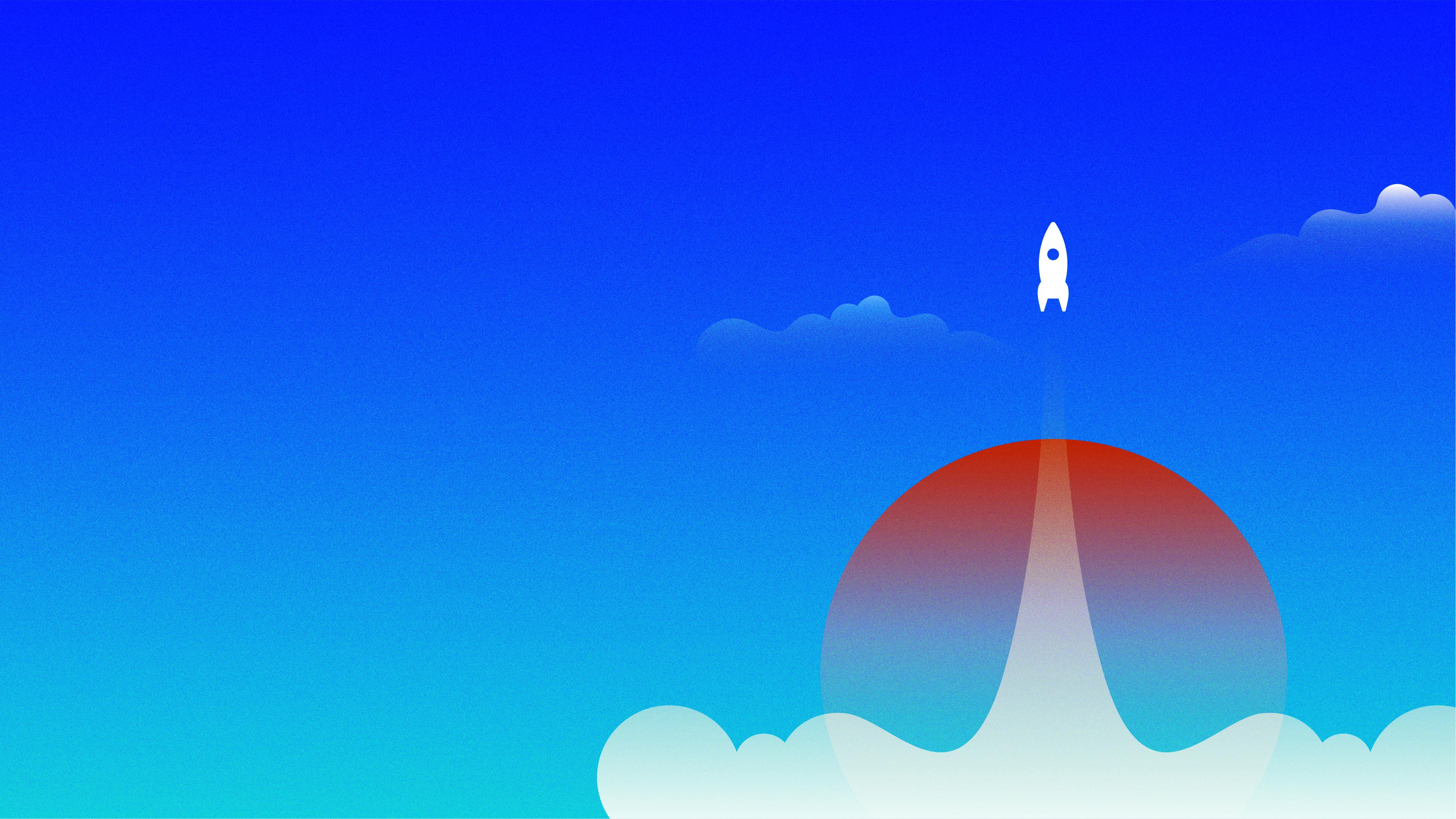 Horizontal Rocket Background-1