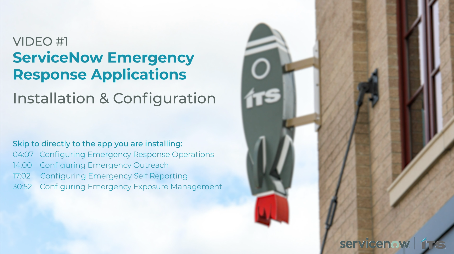 Installation and configuration of ServiceNow Emergency Response Apps